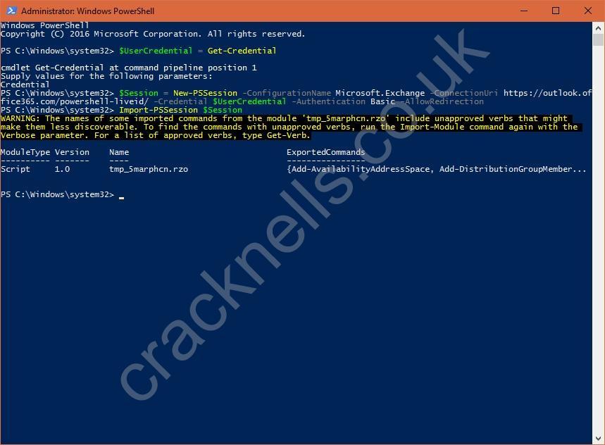 Enabling Office 365 Modern Authentication (OAuth) | Blinky's Blog