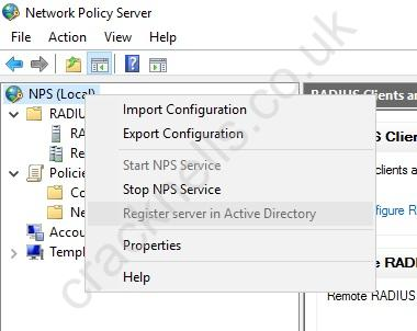 Configuring RADIUS authentication for a wireless network